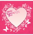 flower frame heart card 380 vector image