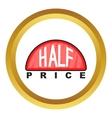 Half price label icon vector image