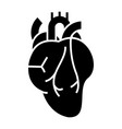 human heart icon black sign vector image