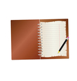 notebook with pencil part two vector image