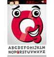funny letter q cartoon vector image