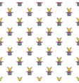 Cute bunny rabbit in magic hat pattern seamless vector image
