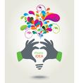 Colorful conceptual background IDEA vector image