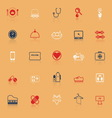 Quality life line icons with reflect vector image