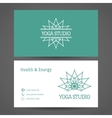 Yoga Studio Business Card Template vector image vector image