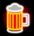 Beer neon sign vector image