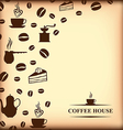 coffee background blur vector image