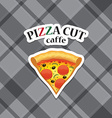 piece of pizza realistic icon vector image