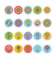Flowers and Floral Colored Icons 5 vector image