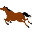 running bay cartoon horse vector image