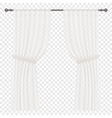 White Curtains Isolated on transperant vector image