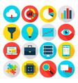 big data flat icons vector image