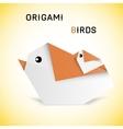 Birds origami vector image