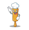 chef rolling pin character cartoon vector image