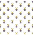 Cute bunny rabbit in magic hat pattern seamless vector image
