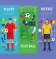 football club banners of soccer sport game vector image