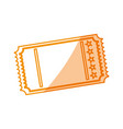 ilhouette tickets to cinema movie entertainment vector image