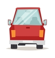 Red cartoon car back view design flat vector image