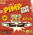 retro car service poster vector image