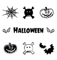 Halloween icons logo symbols and graphic element vector image