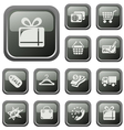 Shopping buttons vector image vector image
