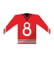 red canadian jersey hockey ice graphic vector image
