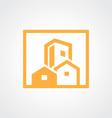 square building cityscape icon logo vector image