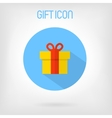 Gift flat styled icon vector image vector image