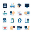 Medical Examination Icons Set vector image
