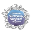 seafood hand drawn sketches of food vector image