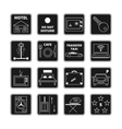 Hotel black icons vector image