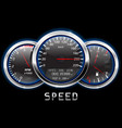 car dashboard speedometer tachometer fuel and vector image