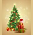 christmas festive backgroung vector image