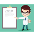 doctor smart presenting vector image