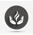 Energy hands sign icon Power from hands symbol vector image