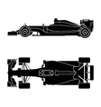 Silhouette of a racing car vector image