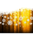 Christmas background with snowflakes EPS10 vector image