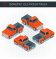 red pickup truck vector image vector image