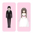 wedding couple character vector image