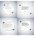 Four Simple Quote Templates vector image vector image