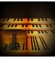 musical background piano keys and guitar uno vector image
