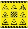 hazards vector image vector image