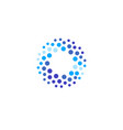 abstract blue color round logo from circles water vector image