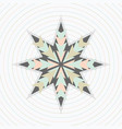 abstract pastel circles pattern with star emblem vector image