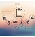 business infographic with unfocused background vector image