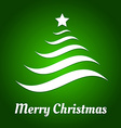Christmas tree from waves vector image