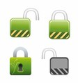 Lock Locked and Unlocked vector image