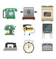 retro vintage household appliances vector image