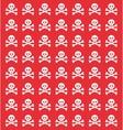 skull danger risk vector image