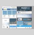 social media posts set business templates vector image